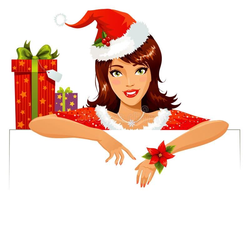 逗人喜爱的辅助工圣诞老人 库存例证