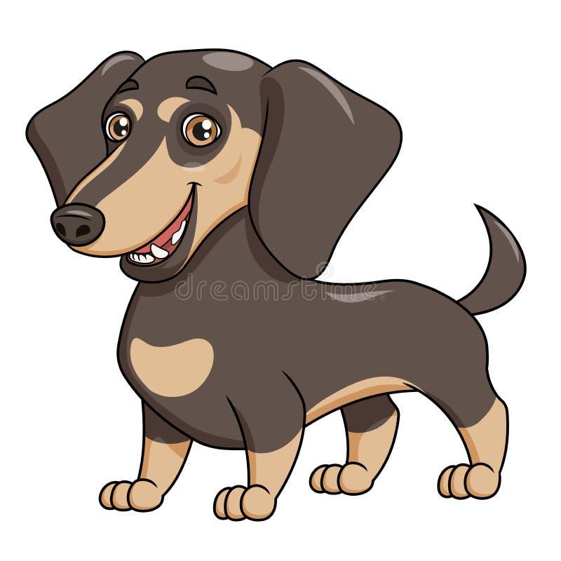 逗人喜爱的达克斯猎犬例证 库存例证