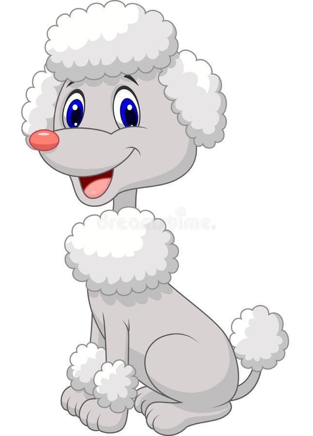逗人喜爱的长卷毛狗动画片 库存例证