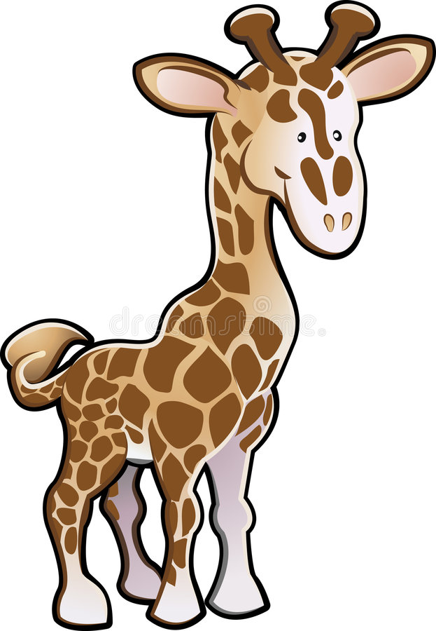 逗人喜爱的长颈鹿例证 向量例证