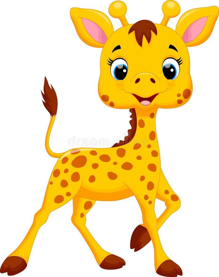 逗人喜爱的长颈鹿动画片 皇族释放例证