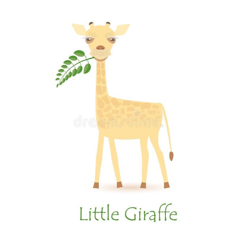 逗人喜爱的长颈鹿小牛 向量例证