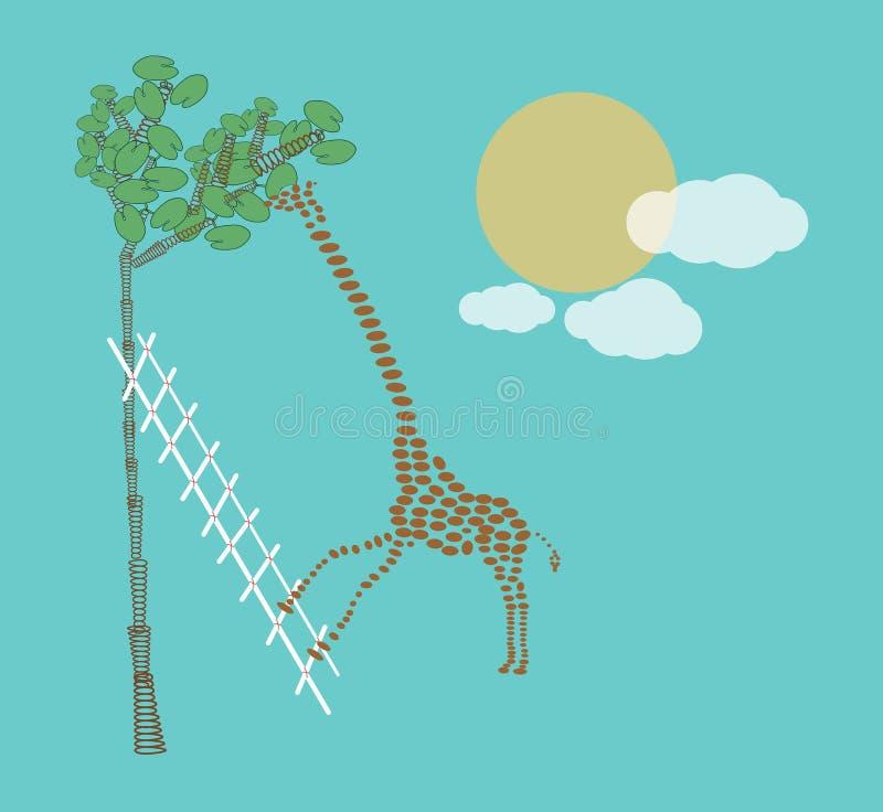 逗人喜爱的长颈鹿 皇族释放例证