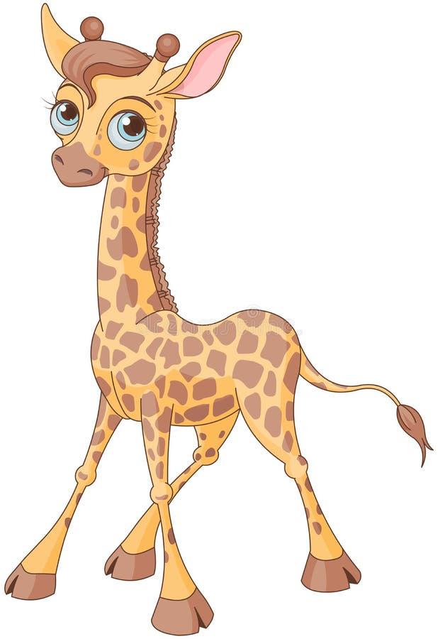 逗人喜爱的长颈鹿 向量例证
