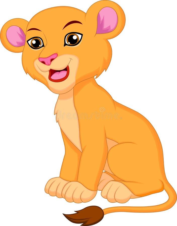逗人喜爱的雌狮动画片 向量例证