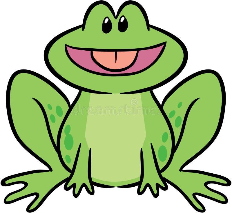 逗人喜爱的青蛙例证向量