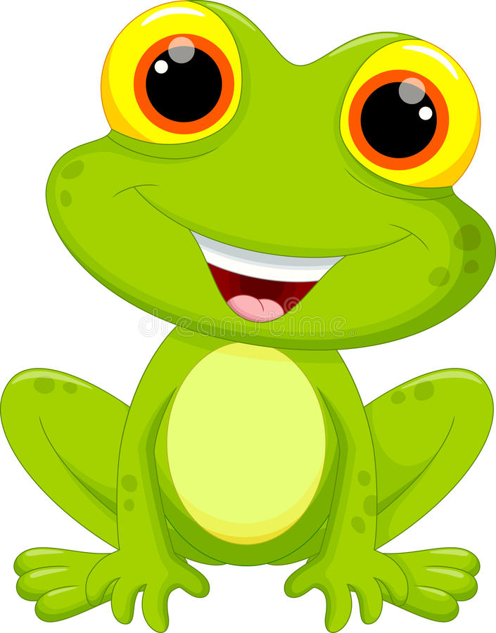 逗人喜爱的青蛙动画片 向量例证