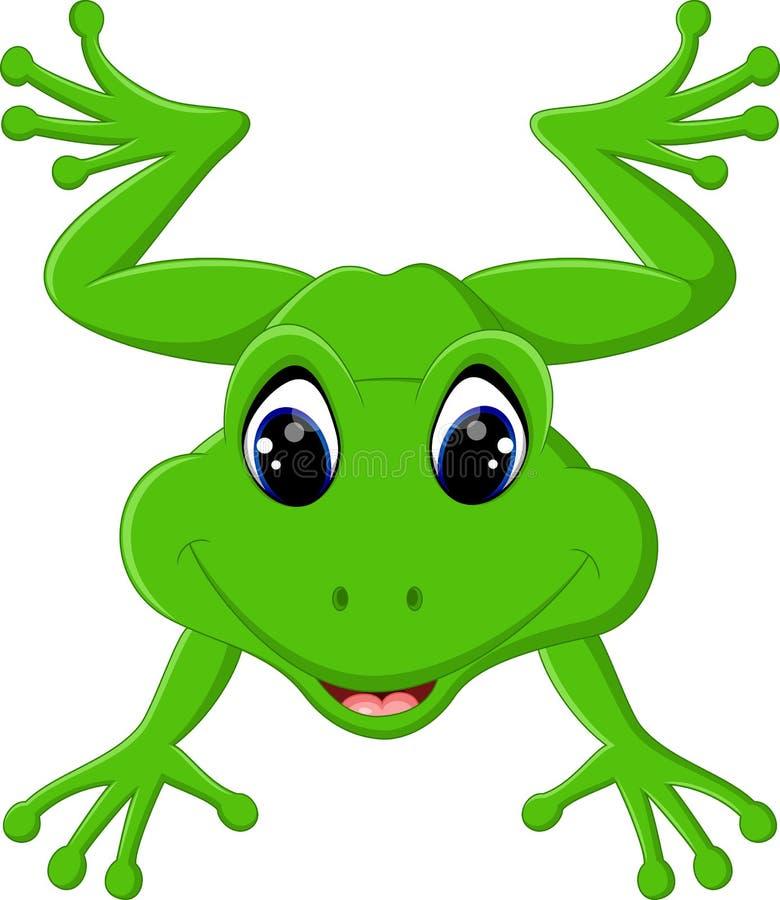 逗人喜爱的青蛙动画片. 吉祥人, 绿色.