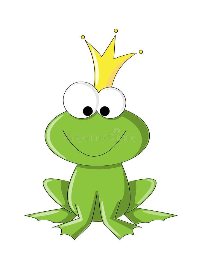 逗人喜爱的青蛙 库存例证