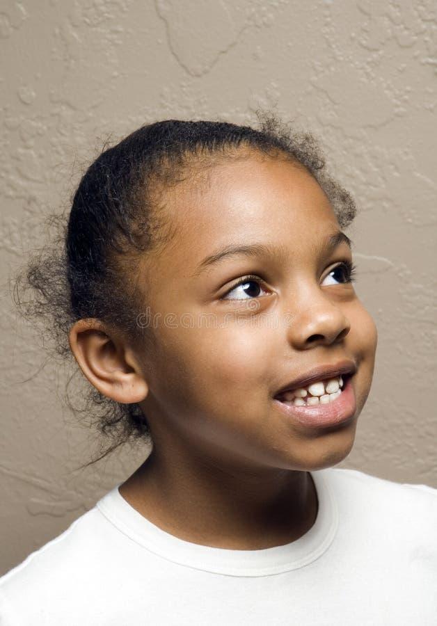逗人喜爱的非洲裔美国人的子项 免版税库存图片
