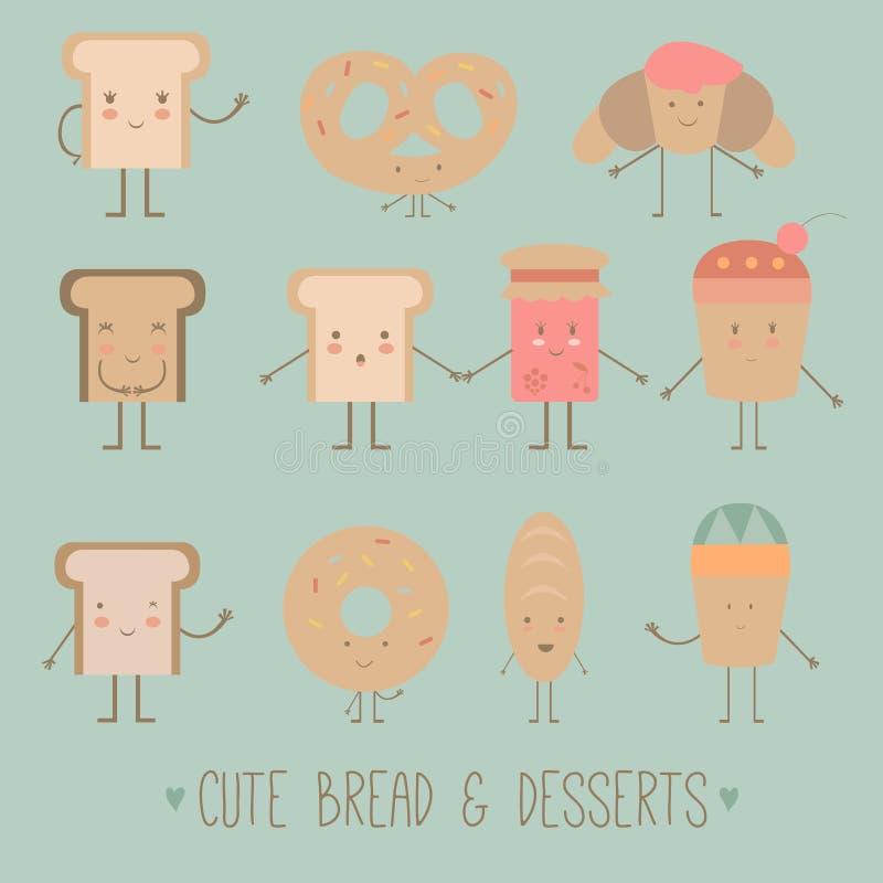 逗人喜爱的面包 库存图片
