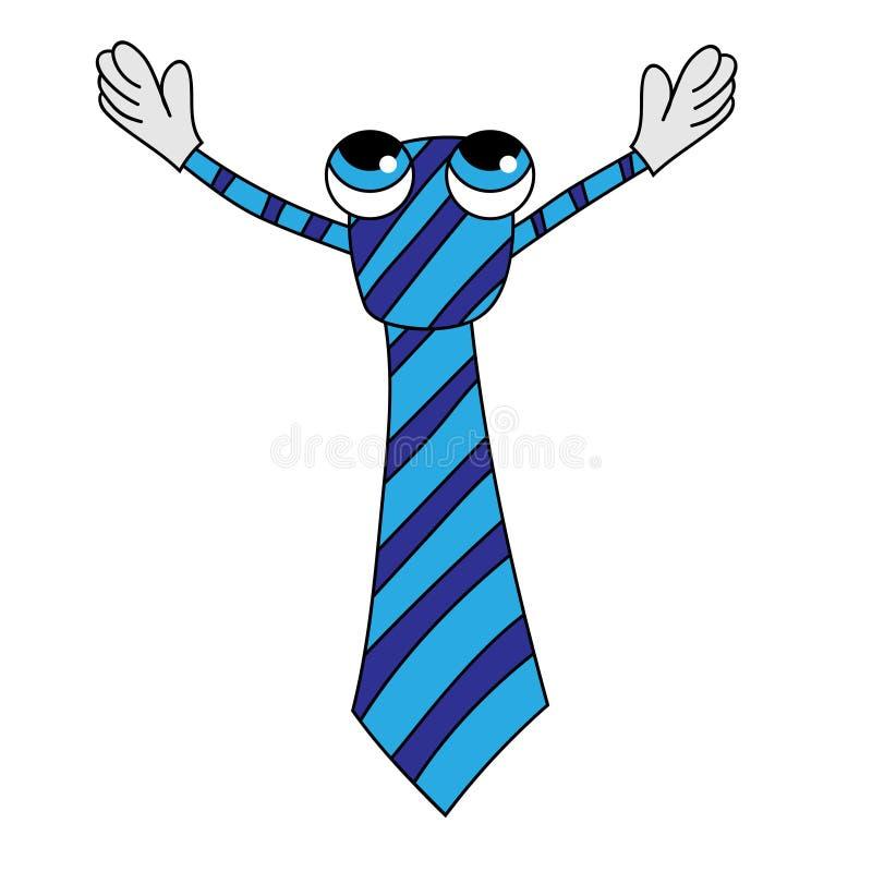逗人喜爱的领带要拥抱 r 皇族释放例证