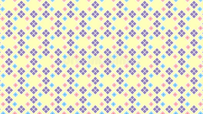 逗人喜爱的颜色的无缝的几何样式 免版税图库摄影