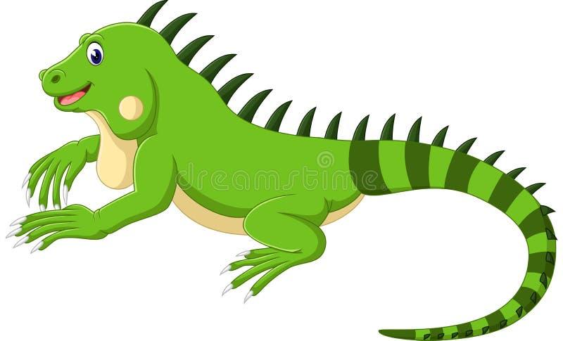 逗人喜爱的鬣鳞蜥 库存例证