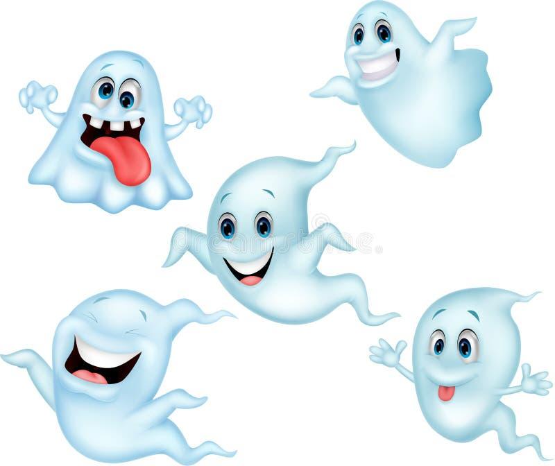 逗人喜爱的鬼魂动画片汇集集合 向量例证