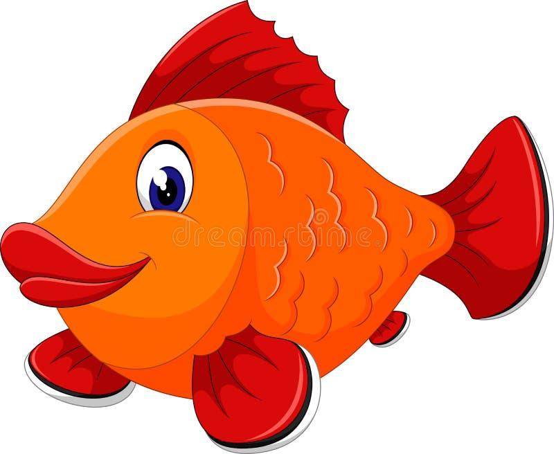逗人喜爱的鱼 皇族释放例证