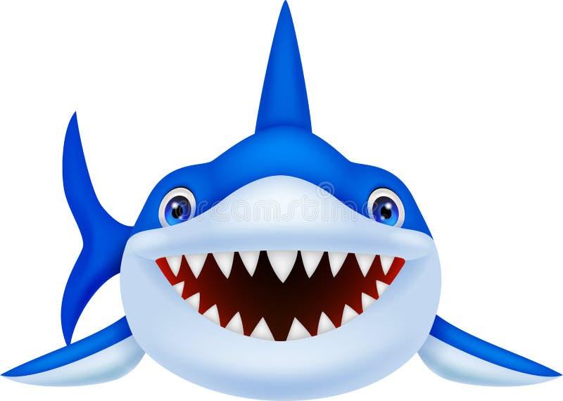 逗人喜爱的鲨鱼动画片 库存例证