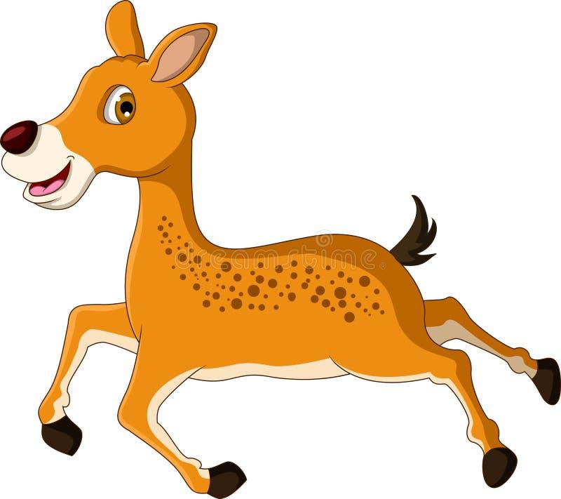 逗人喜爱的鹿动画片赛跑 向量例证