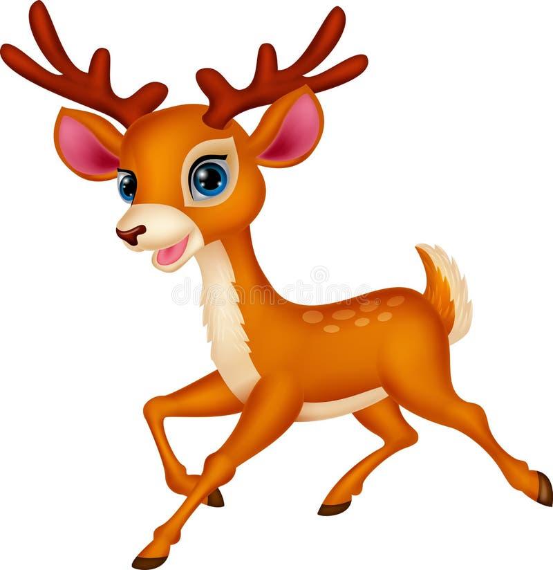 逗人喜爱的鹿动画片 向量例证