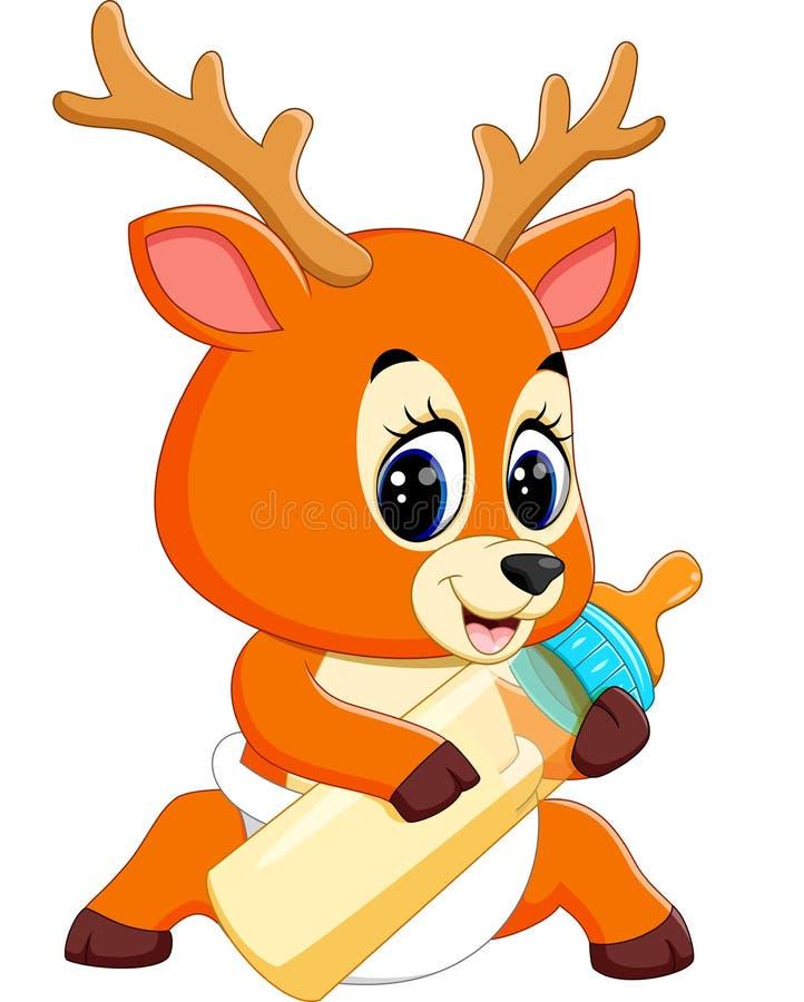 逗人喜爱的鹿动画片 库存例证