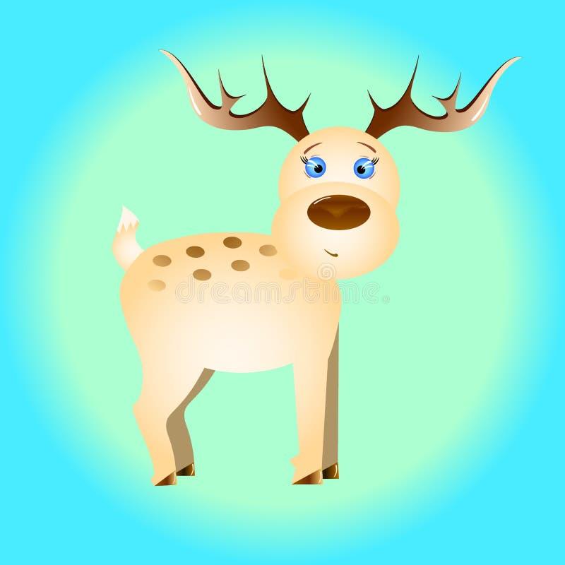 逗人喜爱的鹿字符 皇族释放例证
