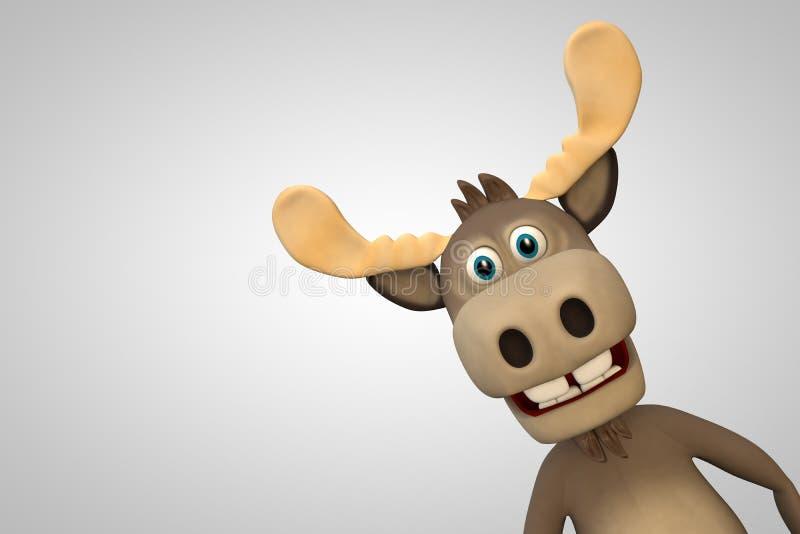 逗人喜爱的麋动画片动物动物园森林 库存例证