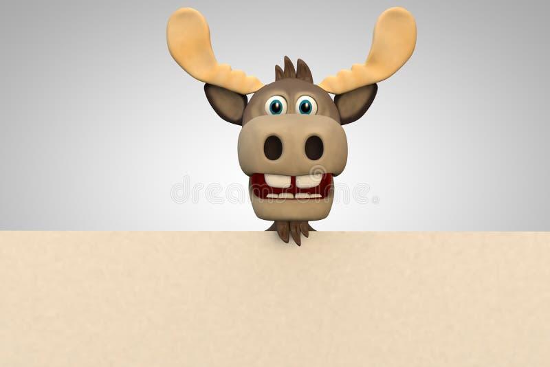 逗人喜爱的麋动画片动物动物园森林 皇族释放例证