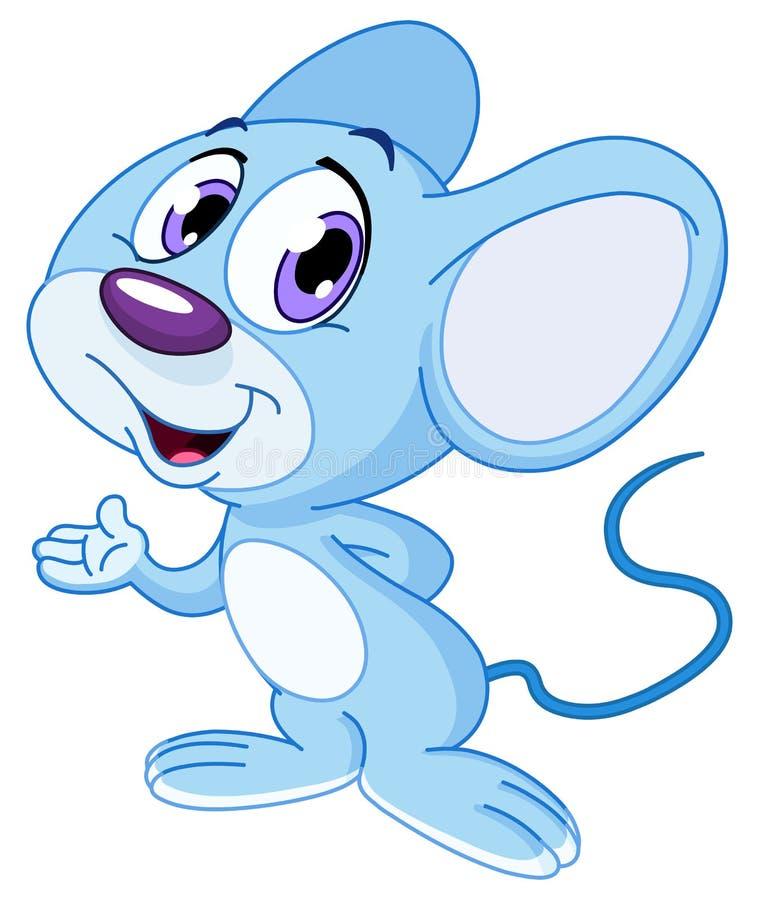 逗人喜爱的鼠标 皇族释放例证