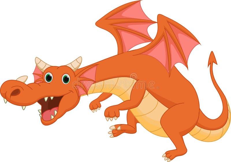逗人喜爱的龙动画片 库存例证