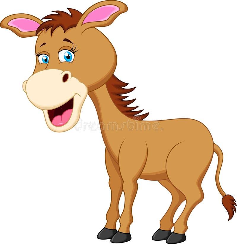 逗人喜爱的驴动画片 库存例证