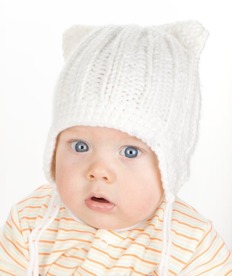 逗人喜爱的婴孩特写镜头画象  免版税图库摄影