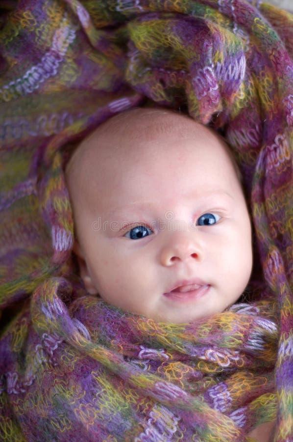 逗人喜爱的婴孩画象 库存图片