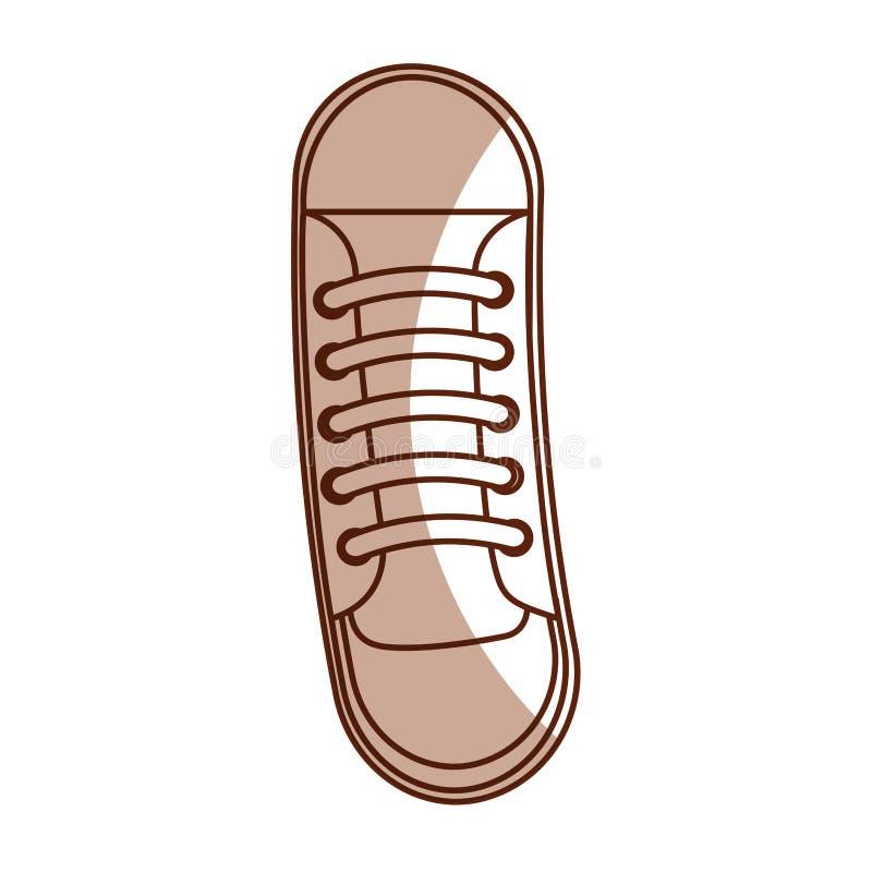 逗人喜爱的阴影鞋子动画片 皇族释放例证