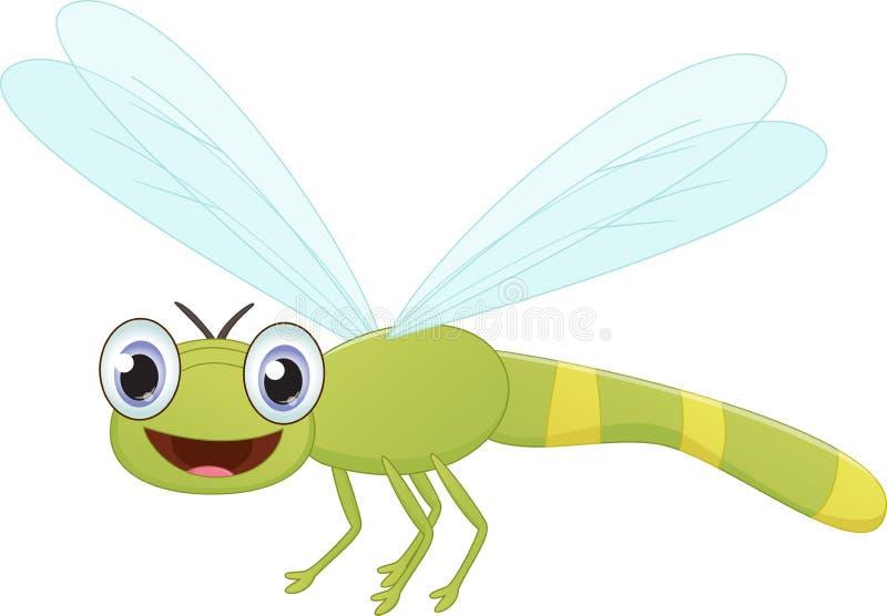 逗人喜爱的蜻蜓动画片 向量例证