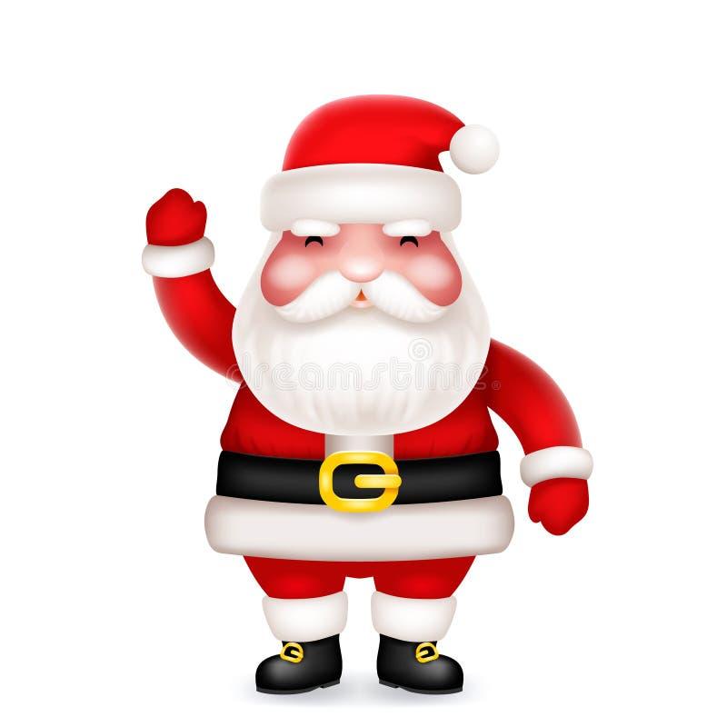 逗人喜爱的3d现实动画片圣诞老人玩具字符象隔绝了传染媒介例证 向量例证