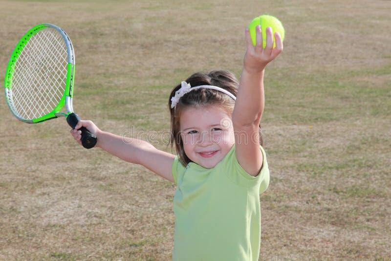 逗人喜爱的lerner网球 库存照片