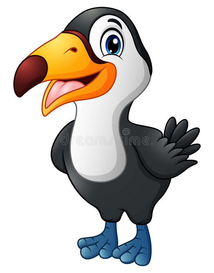 逗人喜爱的toucan鸟动画片 向量例证