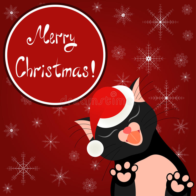 逗人喜爱看板卡的圣诞节 背景明亮的节假日 库存例证