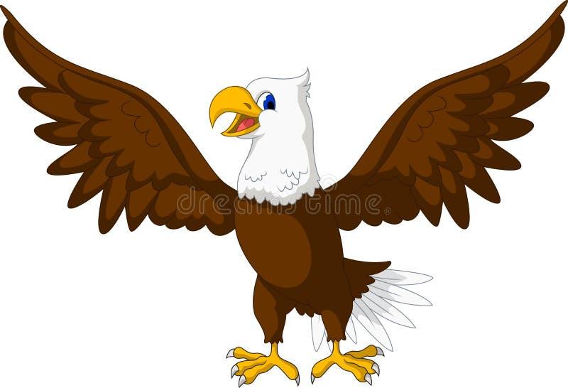 逗人喜爱老鹰动画片摆在 皇族释放例证