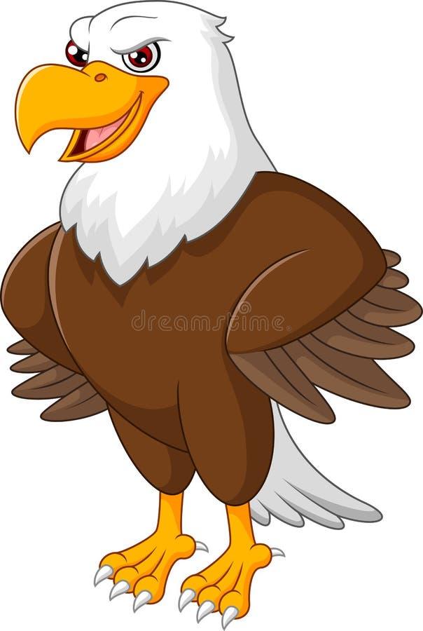 逗人喜爱老鹰动画片摆在 库存例证