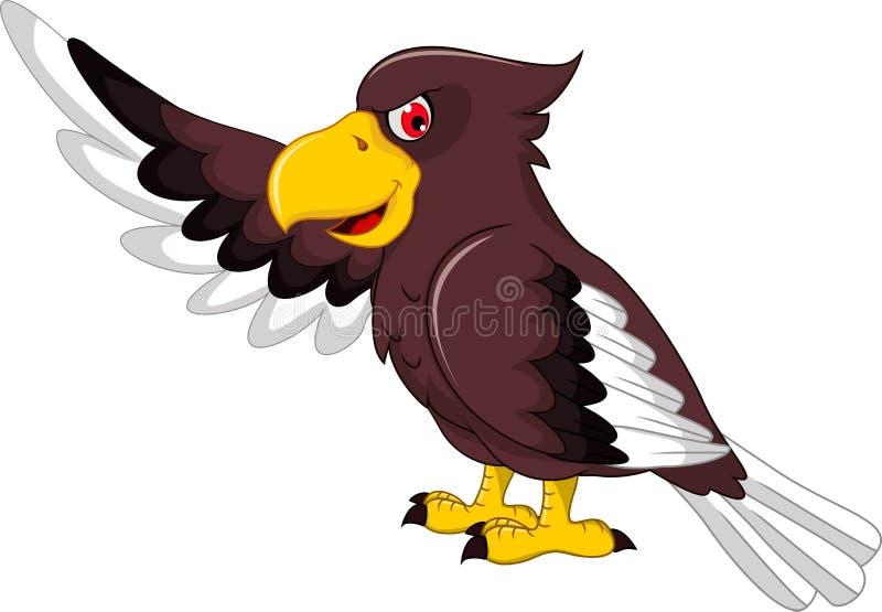 逗人喜爱老鹰动画片摆在 向量例证