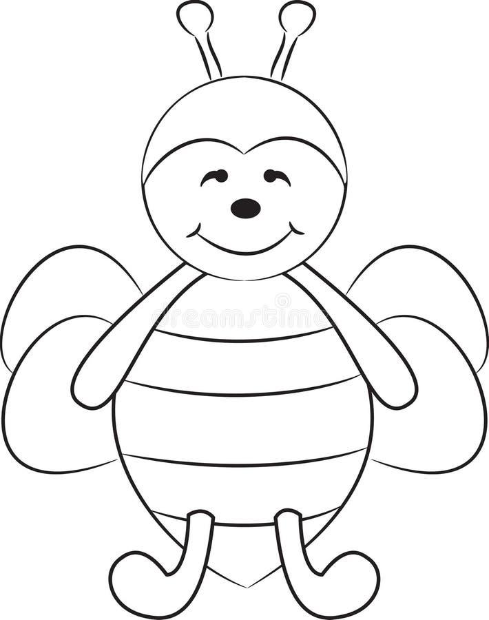 逗人喜爱蜂的动画片 皇族释放例证