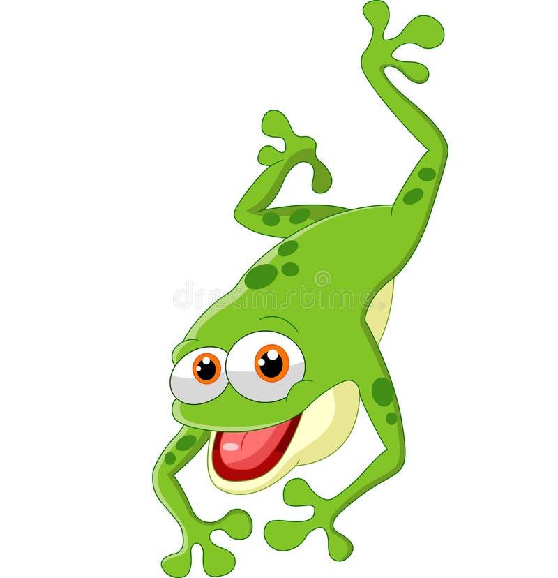 逗人喜爱青蛙跳跃 皇族释放例证