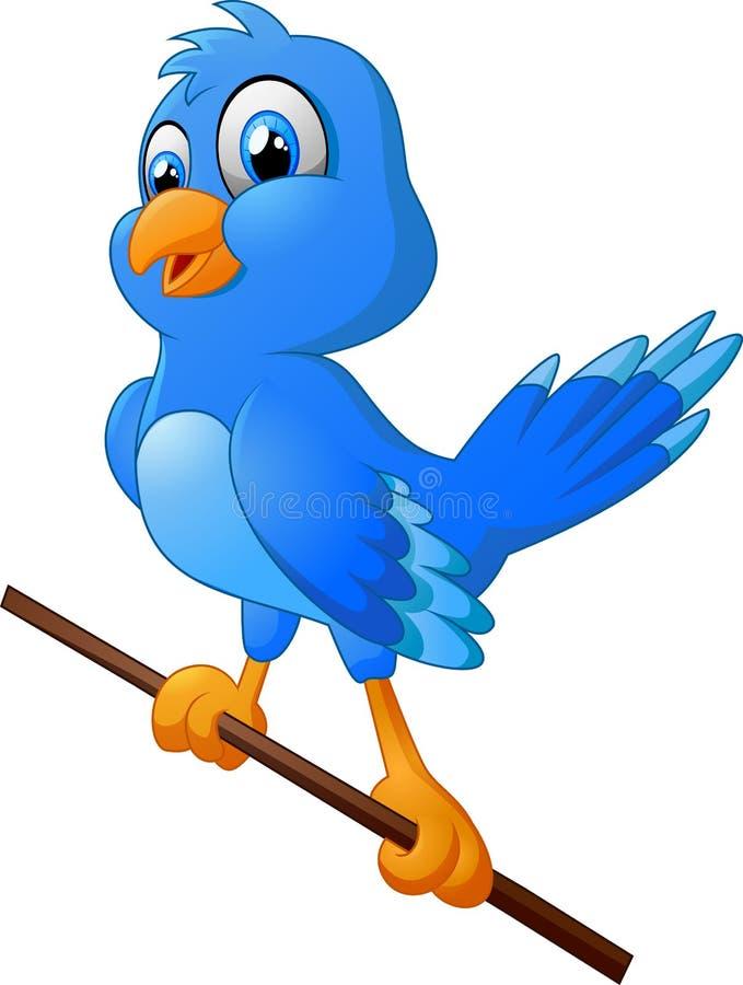逗人喜爱鸟的动画片 库存例证