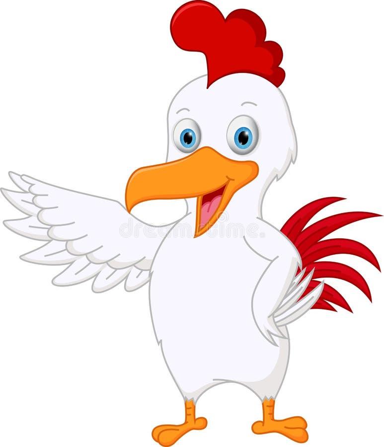 逗人喜爱鸡动画片提出 库存例证