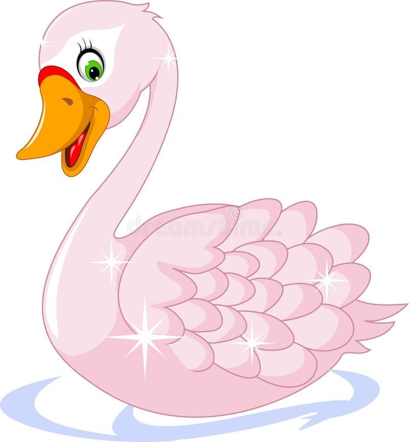 逗人喜爱鹅动画片摆在 库存例证
