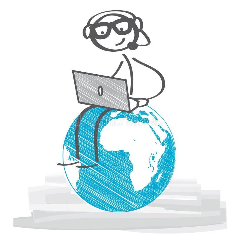 通信全球例证 向量例证