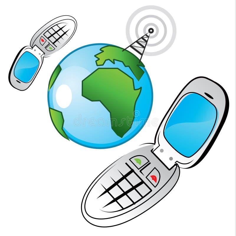 通信全球化 向量例证