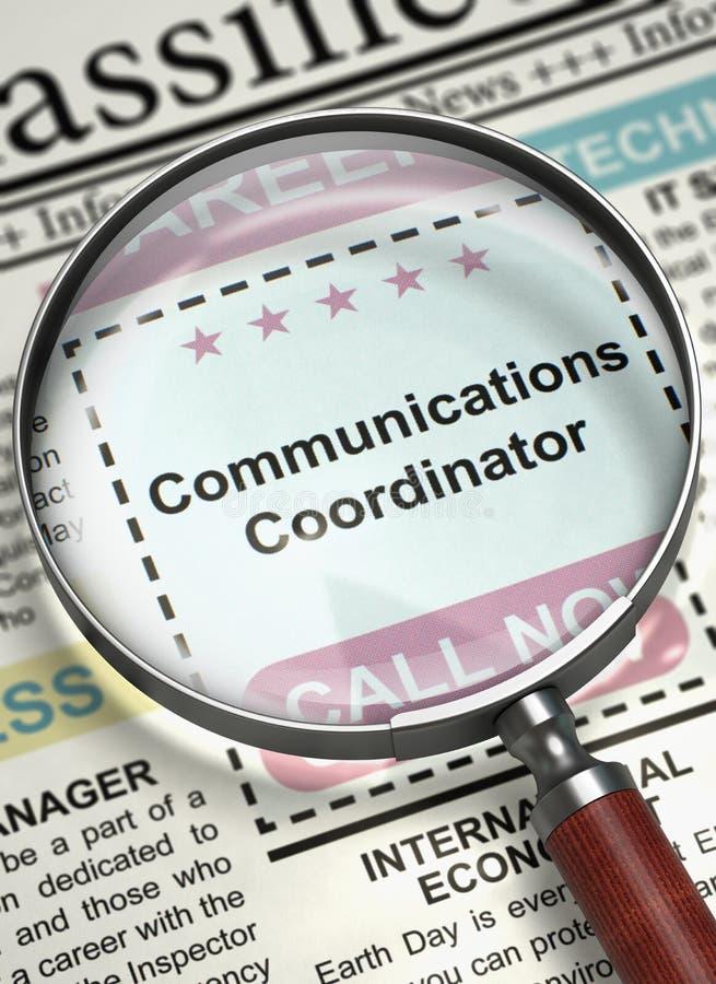 通信协调员职位空缺 3d 向量例证