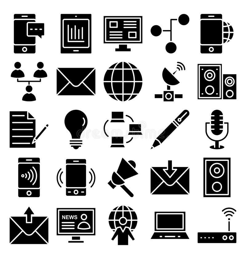 通信和数字设备隔绝了传染媒介可以容易地修改或编辑的象集合 皇族释放例证